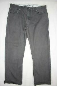 Eddie Bauer Legend Wash Pants Straight Fit Gray 38x30