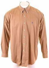 POLO RALPH LAUREN Mens Shirt XL Khaki Cotton Loose Fit Blake HN12
