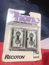 Lot 2~Recoton Phone Microcassette Answering Machine Cassettes~30 Minutes~ New~