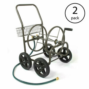 Liberty Garden Products 4 Wheel Residential Hose Reel Cart Up to 250' (2 Pack)