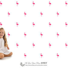 33 Pcs Flamingo Wall Art Stickers Removable Kids Nursery Vinyl Decal Decor Mural