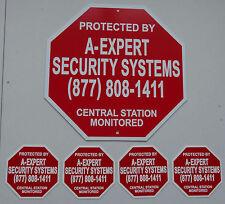 METAL HOME SECURITY BURGLAR ALARM WARNING SIGN & 4 WINDOW and DOOR STICKERS NEW