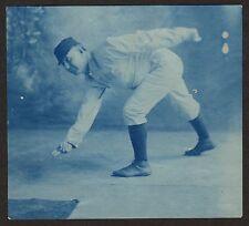 1905 RARE CYANOTYPE BASEBALL PHOTO, UNDERHAND PITCH
