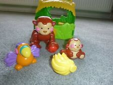 FISHER PRICE AMAZING ANIMALS MONKEY  CARRY TOTE HOUSE COMPLETE SET