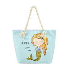 Beach Bags - Large Summer Tote Bags with Zipper Closure Shoulder Bag Mermaid-1