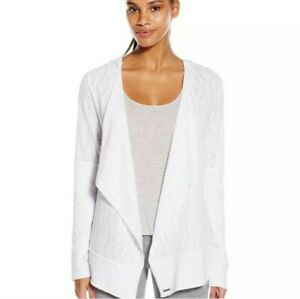 prAna NWT Graceful Wrap White Relaxed Open Drape Hoodie Cardigan Top Size XS