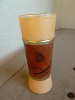 Vintage Retro Siesta Ware Tiki Glass Tropical Mahogany Grip Tall Highball Orange