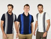 JASPER CONRAN Mens Striped Polo Shirt Pure Cotton Golf RRP £30