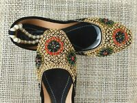 BLACK   LADIES INDIAN WEDDING PARTY KHUSSA SHOES  SIZE 7