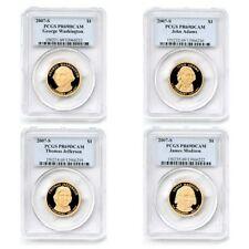 USA Presidential Dollar Set 4 $1 Coins 2007 PCGS Proof 69 Deep Cameo PR69DCAM