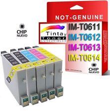 5 CARTUCHOS DE TINTA COMPATIBLE NON OEM PARA EPSON STYLUS DX3800 DX3850 T0611