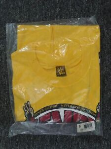JOHN CENA WWE AUTHENTIC U CAN'T C ME NEVER GIVE UP YELLOW SHIRT Small NEW sealed