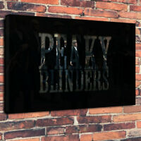 """Peaky Blinders TV Show Printed Box Canvas Picture A1.30""""x20""""30mm Deep Wall Art"""