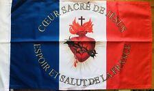 DRAPEAU Sacré Coeur  FRANCAIS bandiera flag france catholique roi jésus royal .