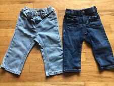 2 Piece Lot Girls 12-18 Month Jeans, Glitter Jeans