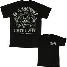 Sons Of Anarchy Soa Samcro Outlaw Mano Pistola Calavera Punk Motero Camiseta