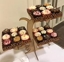 Y165 XXL CAKE Cupcake LARGE Wedding Post Box MDF Table Display Stand Candy Cart