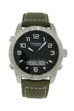 Caravelle by Bulova 43C100 Men's Black Round Ani/Digi 12 & 24 Hour Watch