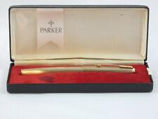 "Vintage Parker 65 ""Cirrus"" Rolled Gold Fountain Pen, GT, Box, 1975 ""Near MINT"""