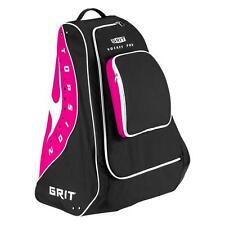 "New Grit hockey pod equipment bag 30"" junior black pink ice jr gear diva stand"