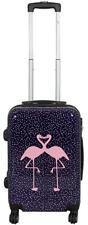 Hartschalen Koffer Trolley Reise Handgepäck Motiv PM Kissing Flamingos Gr. M