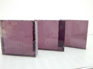 "3.5 "" Sq. Cast Dalle De Verre Vintage Plum Glass Supplies, Stained Glass, Tile"