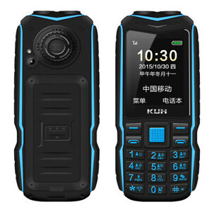 KUH Bluetooth Dual Flashlight 15800mAh Power Bank Long Standby Rugged Cell Phone