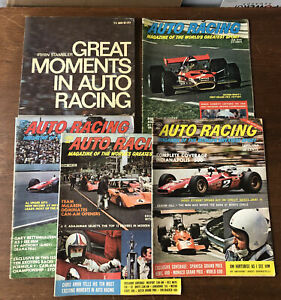 Vintage Auto Racing Lot of Magazines & Book 1969-70 Jackie Stewart Andretti etc