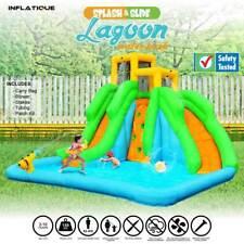 Inflatable Water Slide Lagoon Water Park | Jumping Castle Bouncer Waterslide