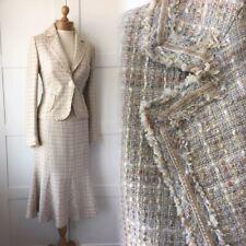 PRINCIPLES Tweed Velvet Raw Edge Skirt Jacket Suit Office Business 42 42 NEW