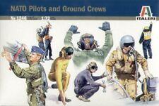 NATO PILOTS & GROUND CREWS (48 FIGURES FOR TYPHOON, MIRAGE, F-16) 1/72 ITALERI