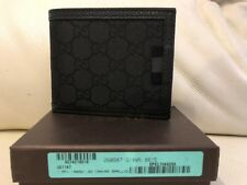 Gucci Double G Logo Guccisima Canvas Wallet Black NEW