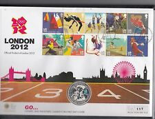 Mercury Coin FDC-£5 Silver proof Coin-London 2012 Olympic/Paralympic games