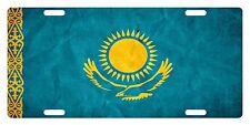 Kazakhstan Flag Custom License Plate NATIONAL Emblem PAPER Version