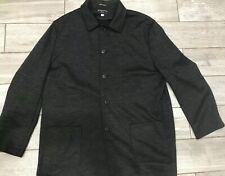 Baracuta Soft Mens 100% Wool Button Down Winter Coat Size XXL Charcoal Gray