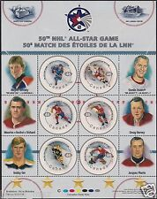 Canada Stamps -Full Pane of 6 -2000, NHL All Stars   #1838 -MNH