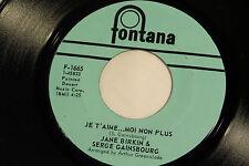Jane Birkin & Serge Gainsbourg:  Je T'Aime... Moi Non Plus / Jane B [Unplayed]