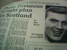 news item 1970 football jim townsend morton scottland battle football