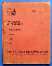 Science-Catalog Company de kummerlin apparatus for steam, gas, water - 1930