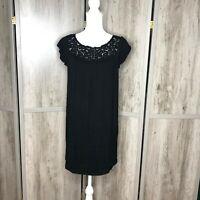 Joie Mini Black Dress Short Sleeves XS