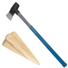 6lb Wood Splitting Maul Fibreglass Shaft Rubber Grip Handle Axe & Log Bomb Wedge