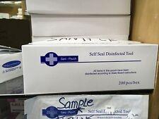 "1000 Self Sealing Sterilization Pouch Bag Clear Blue 10x3.5"" (5 boxes)"