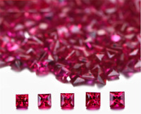 TOP QUALITY UNHEATED SQUARE SHAPE PIGEON BLOOD RED RUBY AAAAA+ LOOSE GEMSTONES