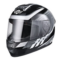 AHR RUN-F3 Full Face Motorcycle Helmet DOT Approved Removable Liner Motor Bike M