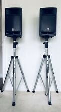 More details for yamaha stagepas 300 portable pa system -2 speakers, stands, covers + cables