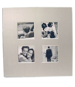 Silver Photo Picture Frame Holds Four 7x7cm Photos -  SMALL FRAME