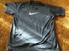 Nike DriFit, men's size large, black large logo fine mesh t-shirt