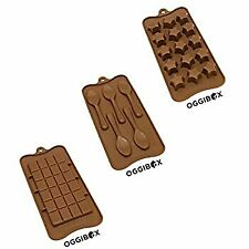 Assorted (Chocolate Bar, Spoon, Super star) Silicone Molds For Making Homemade