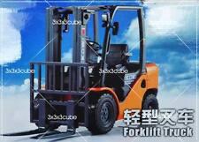 Orange 1:20 Forklift Truck Construction Vehicle Diecast Model Car By KaiDiWei