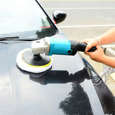 "7""Variable 6-Speed Electric Auto Car Polisher/Buffer & Sander w/ Wool Bonnet Pad"